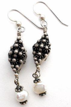 Cannetille Pearl Earrings Sterling Silver Pierced Dangle Vintage 925 Jewelry | Jewelry & Watches, Vintage & Antique Jewelry, Fine | eBay!
