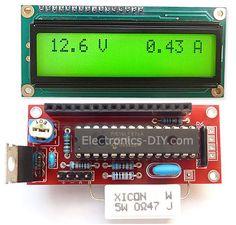 Voltmeter Ammeter Kit - Blue Backlight LCD - Electronics-DIY.com