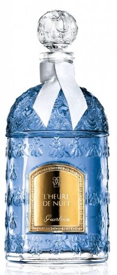 GUERLAIN- LHeure de Nuit- the blue hour which is the time before twilight which the French consider the most romantic time of the day. Launched in 1912.