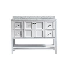 "Vinnova 713048-WH-CA-NM Florence 48"" Vanity in White with... https://www.amazon.com/dp/B012IS1V7M/ref=cm_sw_r_pi_dp_x_UDR8yb097TYWB"