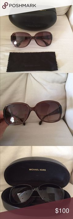 New. Michael Kors Harper Sunglasses Brown Brand new without tags. Michael Kors Harper sunglasses in brown. Never worn. Nice color in that the lens are not too dark. Comes with case and lens wipe. No trades. Comes from a pet and smoke free home. Michael Kors Accessories Sunglasses
