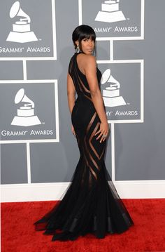 Kelly Rowland in Georges Chakra, Grammys 2013 Georges Chakra, Bad Fashion, Fashion Photo, Fashion Kids, Fashion Beauty, Rihanna, Kelly Rowland Style, Grammy Red Carpet, Dresses 2013