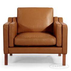 Monroe Mid-century Modern Armchair, Canyon Aniline Premium Leather |