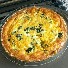 "Light and Fluffy Spinach Quiche | ""This recipe is fabulous!"" #recipe #breakfast"