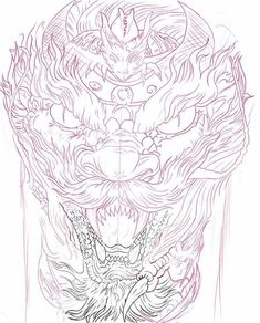 Dark Art Tattoo, Body Art Tattoos, Tatoos, Dragon Head Tattoo, Tricep Tattoos, Japanese Tiger Tattoo, Tiger Dragon, Ancient Egypt Art, Biomechanical Tattoo
