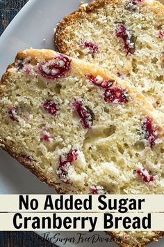 This is the recipe for how to make a (low) Sugar Free Cranberry Bread Recipe that also tastes really delicious especially during the holidays. Sugar Free Bread, Sugar Free Baking, Sugar Free Sweets, Sugar Free Recipes, Cranberry Recipes Sugar Free, Sugar Free Quick Breads, Sweet Recipes, Diabetic Friendly Desserts, Diabetic Recipes