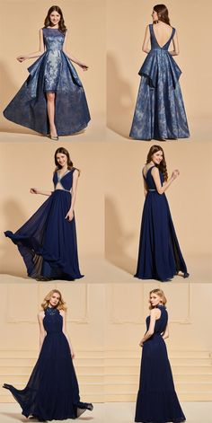 Blue prom dresses #prom #party #lace #dress