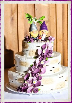 Gnome Wedding Cake Topper The Gnomelyweds Gnomes Custom Painted Order Just For You
