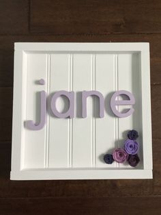 A personal favorite from my Etsy shop https://www.etsy.com/listing/509866399/custom-baby-name-sign-baby-gift-baby