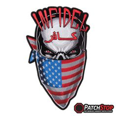 AMERICAN FLAG 2x4 SEW ON IRON PATCH EMBROIDERED USA MOTORCYCLE BIKER JACKET VEST