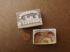 Original painting diorama OOAK 3d miniature par HappyVillage, €14.00
