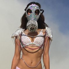 BURNING MAN MASK by Leiluna on Etsy