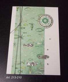 Einladungskarten - Einladungskarte Kommunion Konfirmation - ein Designerstück von happy-papers bei DaWanda