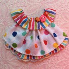 ELITE4U-Laura-Candy-DOTS-Boutique-DRESS-4-Tear-BEAR-Premade-Scrapbook-3paperwish