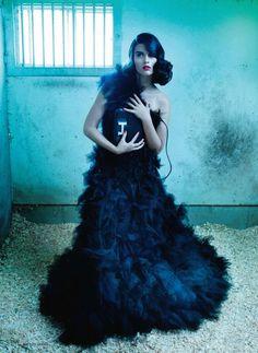 Crystal Renn for <em>Elle Canada</em> December 2010 by Leda & St. Jacques
