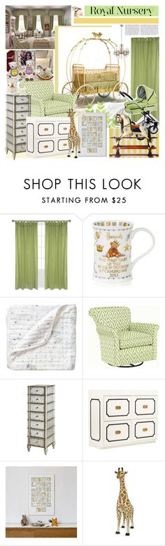 """""""When your fast asleep~ Royal Nursery"""" by southernpearldesigns ❤ liked on Polyvore featuring interior, interiors, interior design, home, home decor, interior decorating, Royal Baby, Harrods, Aden + Anais and Nursery Works"""