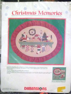 """Christmas Memories Dimensions Counted Cross Stitch Kit Country Shelf 15"""" x 12"""" #Dimensions"""