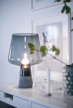 House of Philia Scandinavian Interior, Home Interior, Interior Styling, Lamp Light, Light Up, House Of Philia, Grey Table Lamps, Cool Ideas, Living Room Lighting