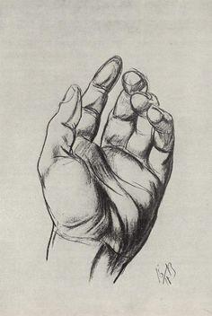 Drawing hands - Petrov-Vodkin Kuzma - WikiArt.org