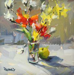 cathleen rehfeld • Daily Painting: #822 Star Magnolia Buds