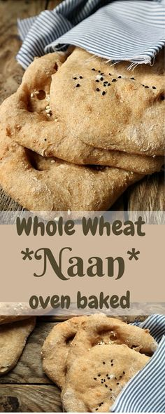 Whole Wheat Naan. Soft, moist and elastic, rustic and nutty flavoured, specked with some black cumin seeds, with some yoghurt or veggies, so hard to resist!