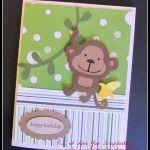Monkey Cricut Card Using Create A Critter Cricut Cartridge