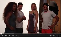 Federer, Nadal, Sharapova and Williams Play Nike Exhibition in Paris Federer Nadal, Raging Bull, Maria Sharapova, Rage, Tennis, Paris