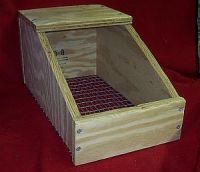 Nesting Boxes with wire bottoms....like this, but make removeable bottom? It's just too darn cold for the babes here in early spring
