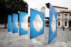 Large Glowing Panels Mimic Clouds in the Sky