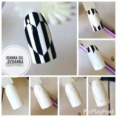 Acrylic nail tips and tricks Nail Polish Designs, Nail Art Designs, Diy Nails, Cute Nails, Acrylic Nail Tips, Valentine Nail Art, Nail Art Techniques, Lines On Nails, Wie Macht Man