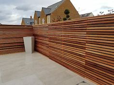 This is for a contemporary fencing style as shown in the photo's. All the pictures in the gallery are the Cedar that we have supplied. Wood Cladding Exterior, Cedar Cladding, Wood Fence Design, Privacy Fence Designs, Backyard Patio Designs, Backyard Fences, Decking Fence, Decking Boards, Cedar Wood Fence
