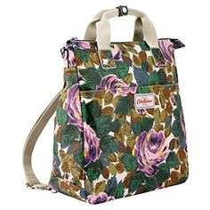 Cath Kidston Matt Oilcloth Multi Strap Backpack Crossbody Bag - Import It All Cath Kidston Bags, Tactical Equipment, Cute Bags, Handmade Bags, Green Colors, Diaper Bag, Oxford, Crossbody Bag, Backpacks