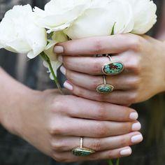 Sunday's... @anitakojewelry #anitako #turquoise #rings #diamonds #oneofakind #brokenenglishjewelry #dream #sundays #roses #jewelry #style