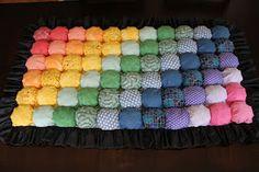 tutorial: Bubble Quilt - Puff Blanket -