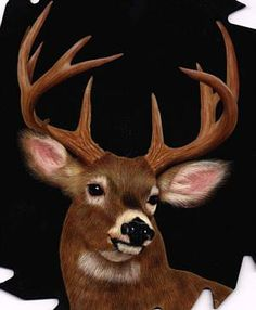Pam Miller Tole and Decorative Painting - Pam Miller Tole and Decorative Painting Decorative Acrylic Painting Free Patterns Wildlife Paintings, Wildlife Art, Animal Paintings, Tole Painting Patterns, Deer Art, Guache, Pictures To Paint, Deer Pictures, Painting Inspiration