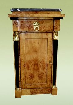 Biedermeier style commode cabinet ~ Olivewood