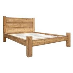 Treble Plank Headboard Bed Frame