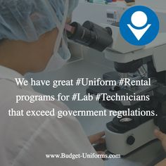 We have great #Uniform #Rental programs for #Lab #Technicians that exceed government regulations.
