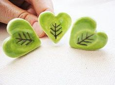 Handmade Ceramic Heart Statement Ring by Ivy B Jones