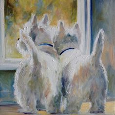 5 oclock Here is a brand new, ready to finish 18 count white mono deluxe needlepoint canvas. 14 ct canvas is also available on request. The image size is 9x12, 11x14 or 16x20 Add your own threads and expertise to the canvas to create your own one of a kind Westie masterpiece.