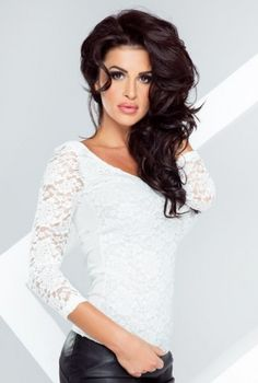 Sexy women's blouse with lace