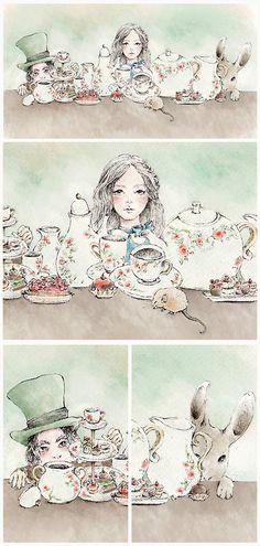 Tea in Wonderland by Krystel Cárdenas