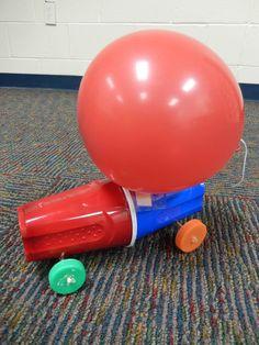 Balloon Car Races - Teen Program Sept. 2013