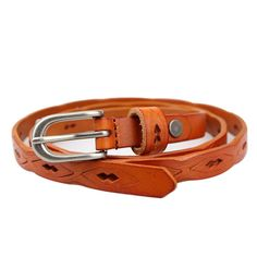 Women's Pin Buckle Leather Belt. Compact and stylish design will be nice to collocate with your shorts or pants. Leather material is great for durability. Easy to fasten and comfortable to wear. Perfect waist line is to make women S curve of the basic points.