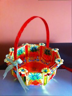 handmade chinese new  year basket