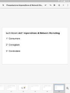 Le 3 Azioni dell' Imprenditore di Network Marketing