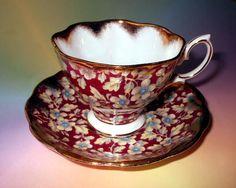 Royal Albert Royal Brocade Chintz Tea Cup and Saucer Set