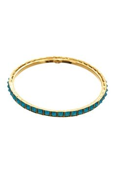 Turquoise Pyramid Bangle  by Date Night: Accessorize Yourself on @HauteLook