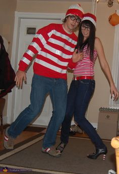 Where's Waldo & Waldette - Halloween Costume Contest via @costumeworks