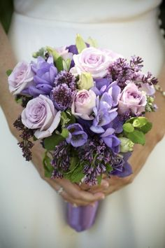 Flower Power: 20 Looks for a Purple Wedding Bouquet
